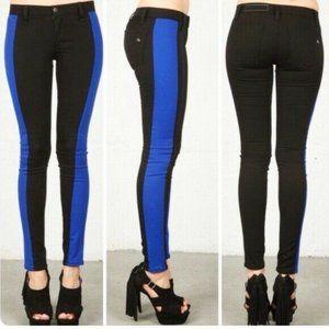 Rag and Bone Colorblock Tuxedo Stripe Skinny Jeans